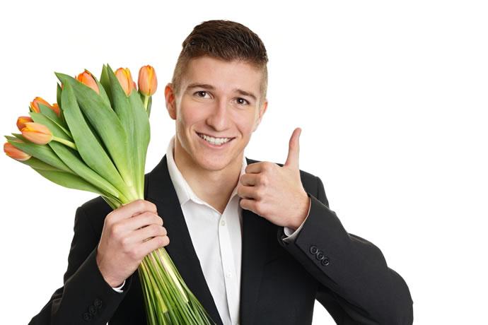 surpresa para marido namorado flores para homem