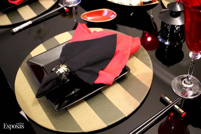 Aparador Barato Vintage ~ Jantar Japon u00eas em Casa Decoraç u00e3o Mesa Posta Japonesa Blog Esposas Online