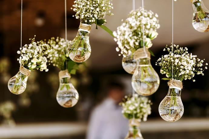 casamento simples e bonito criativo
