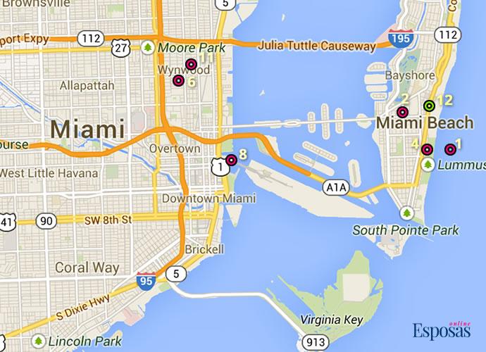 Mapa Miami