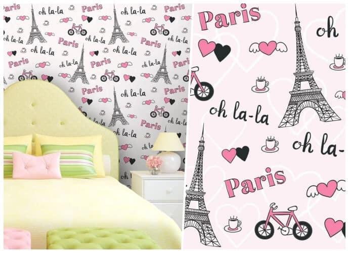 Papel de parede infantil Paris